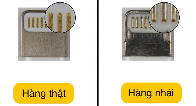 8 dấu hiệu phân biệt cáp iPhone xịn và hàng nhái