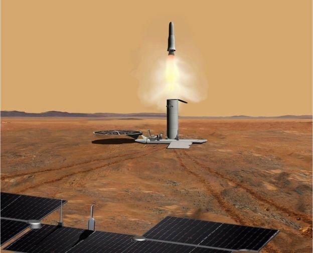 Airbus đang thiết kế tàu tự hành đi nhặt mẫu vật trên sao Hỏa chở về Trái Đất