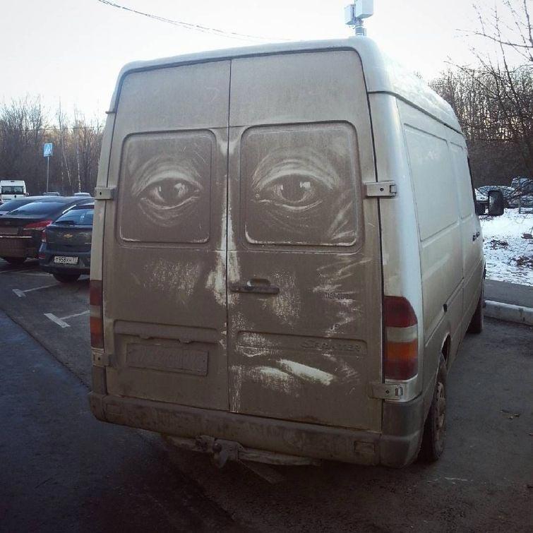 Ấn tượng không thể tin nổi nghệ thuật ra đời từ bụi bẩn