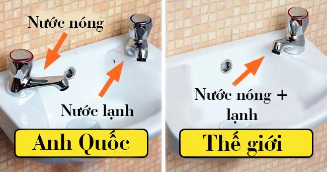 Anh Quốc là nơi duy nhất có 02 vòi nước trên cùng một bồn rửa. Lý do là...