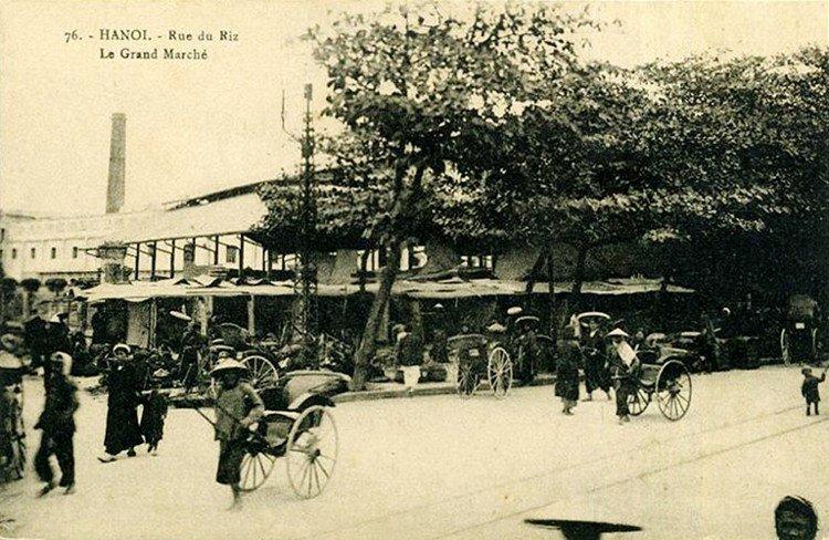 Ảnh xưa quý giá về chợ Đồng Xuân Hà Nội