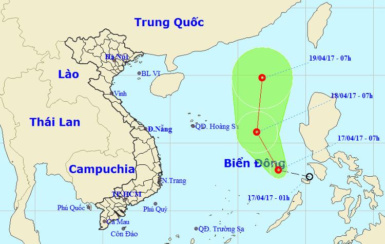 Áp thấp nhiệt đới đổ bộ vào biển Đông