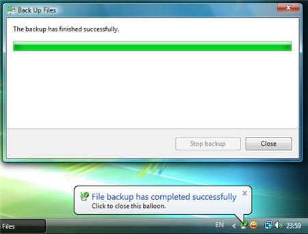 Backup dữ liệu trong Windows Vista