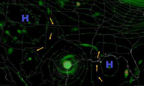 Bão Harvey thành ác mộng của Texas vì kẹt giữa hai khối khí