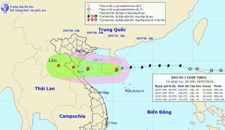 Bão số 3 di chuyển nhanh, đổ bộ vào các tỉnh từ Thái Bình đến Hà Tĩnh