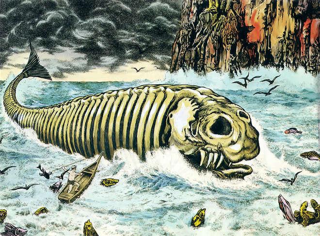 Bí ẩn lời nguyền đáng sợ của quái vật biển Bakekujira: Kẻ khổng lồ trở về từ cõi chết