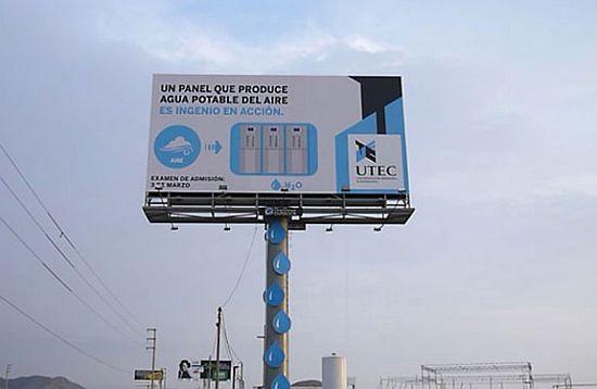Biển quảng cáo có khả năng sản xuất nước