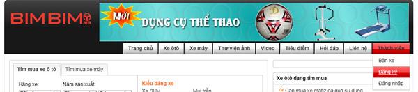 BimBim.vn – Mua bán ôtô, Xe máy online