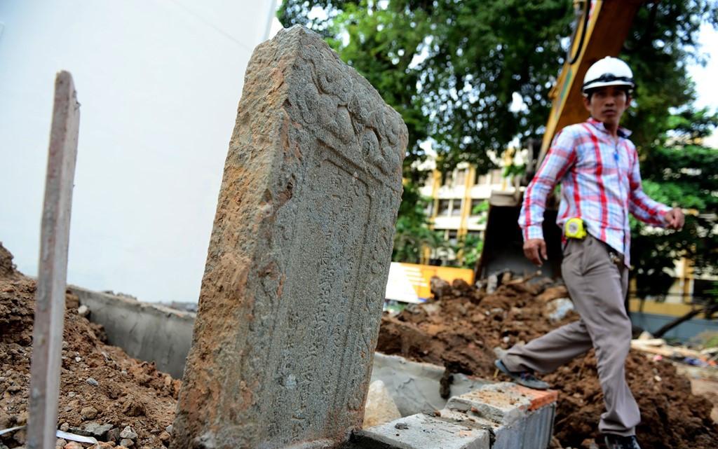 Cận cảnh ngôi mộ cổ mới phát hiện ở Sài Gòn