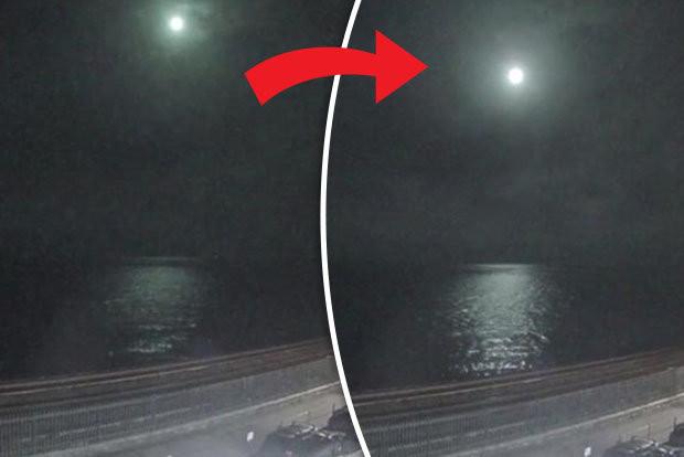 Cầu lửa sáng chói hơn Mặt Trăng rơi xuống vùng biển Anh