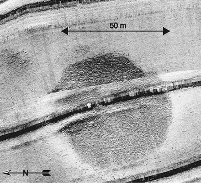 Cấu trúc đá bí ẩn đường kính 70 mét dưới biển Israel