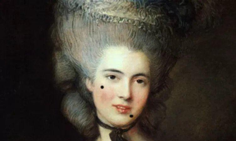 Chấm nốt ruồi giả trên mặt - mật mã tán tỉnh của các quý cô thế kỷ 18