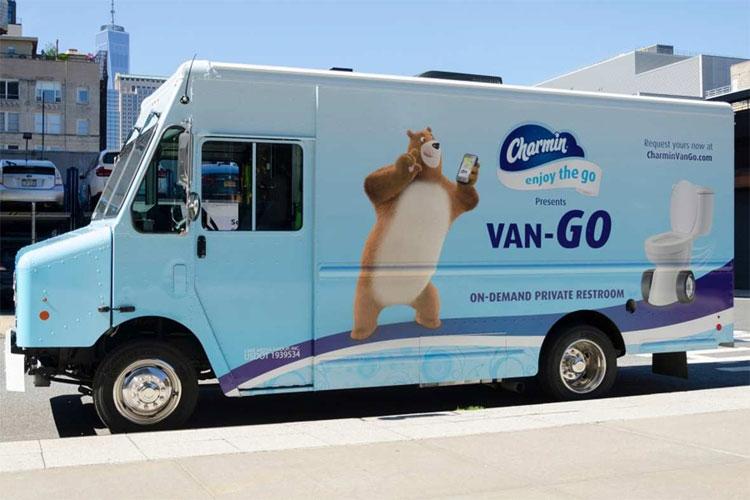Charmin Van-GO - Dịch vụ toilet di động theo yêu cầu