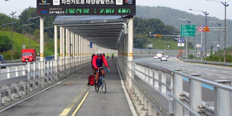 Con đường Mặt trời dành cho xe đạp độc nhất vô nhị tại Hàn Quốc