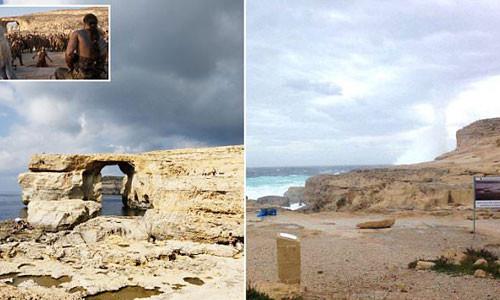 Cổng vòm đá Azure Window ở Malta đổ sụp xuống biển