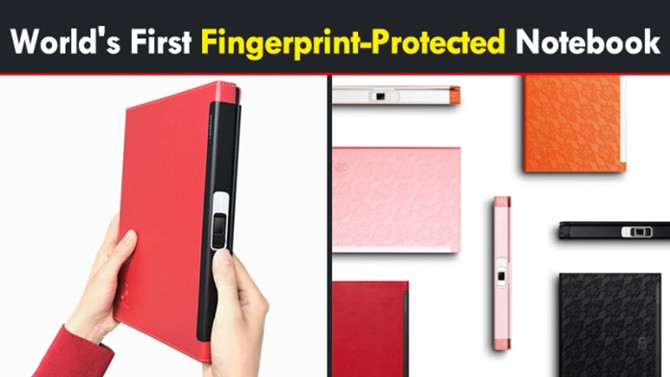 Cuốn sổ tay đầu tiên trên thế giới tích hợp bảo mật vân tay