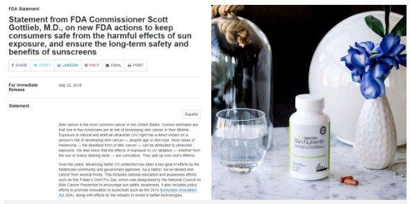 FDA khẳng định: viên uống chống nắng không tốt như bạn tưởng