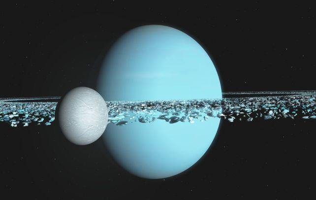 Hai mặt trăng của sao Thiên Vương có thể đâm vào nhau
