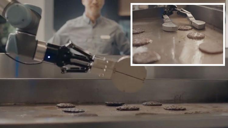 Hai triệu nhân viên có nguy cơ thất nghiệp vì robot tự rán thịt