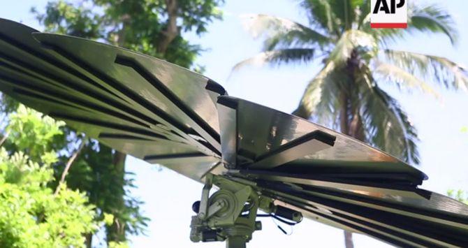 Hệ thống pin mặt trời khổng lồ có hình dáng như một bông hoa