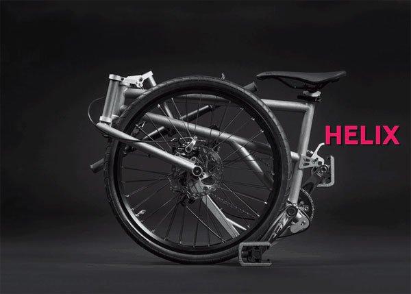 Helix: Xe đạp gấp nhỏ gọn nhất thế giới