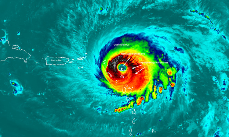 Hiệu ứng sân vận động trong mắt bão quái vật Irma