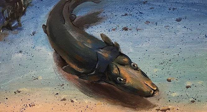 Hình ảnh loài cá giống thú mỏ vịt được tìm thấy ở rạn san hô cổ đại