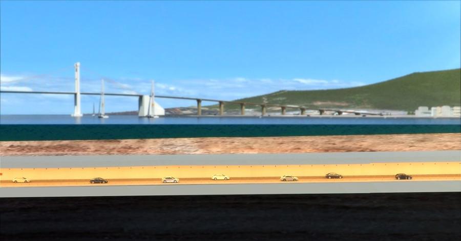 Hình ảnh mô phỏng hầm vượt sông Hàn ở Đà Nẵng