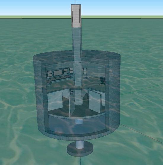 Khai thác năng lượng sóng biển với nhà nổi ống