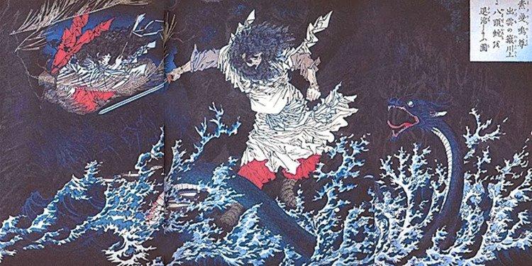 Kiếm báu của Thiên hoàng Nhật lấy từ đuôi mãng xà 8 đầu