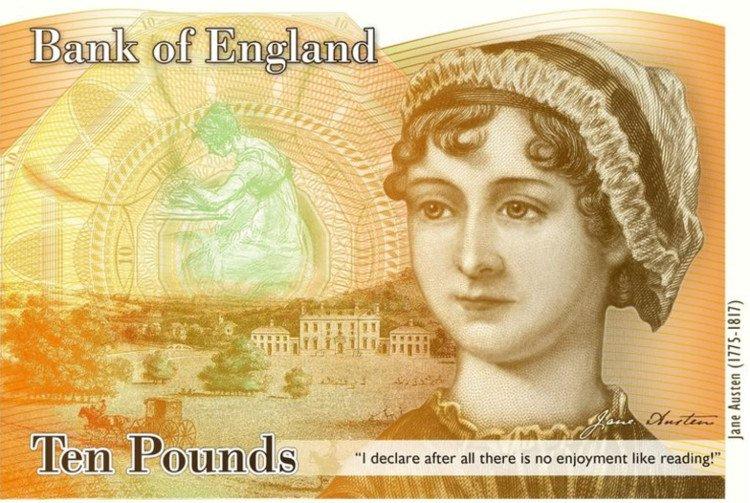 Kỷ niệm 200 năm ngày mất của Jane Austen trên tờ bảng Anh