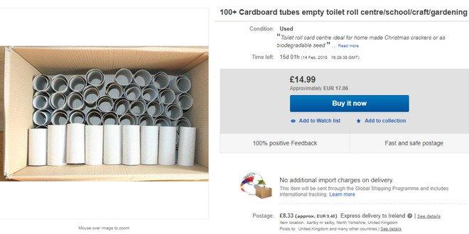 Lõi giấy vệ sinh đang là hàng hot trên eBay nhưng người ta mua làm gì?