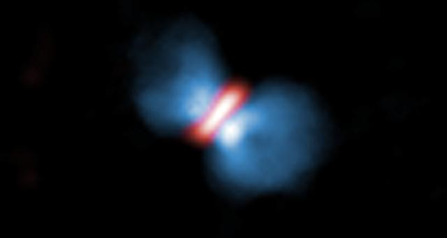 Luồng khí bắn ra khi ngôi sao cất tiếng chào đời