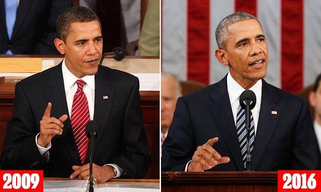 Lý do tổng thống Obama bạc tóc sau 8 năm làm Tổng thống Mỹ