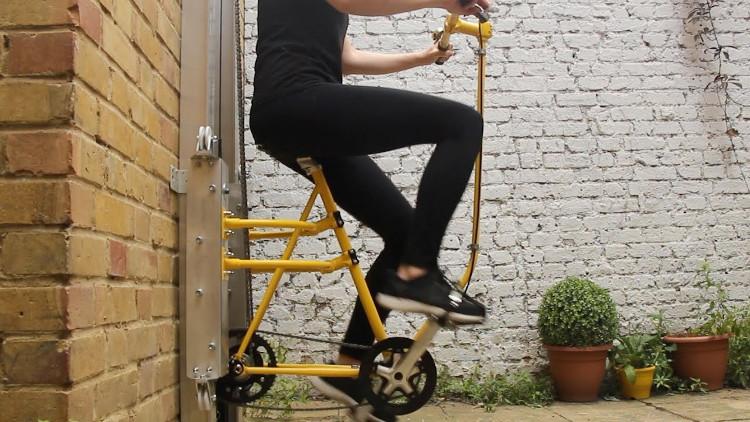 Mẫu xe đạp lên xuống nhà cao tầng thay thang máy