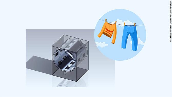 Máy sấy siêu âm giúp quần áo khô nhanh hơn gấp 2 lần