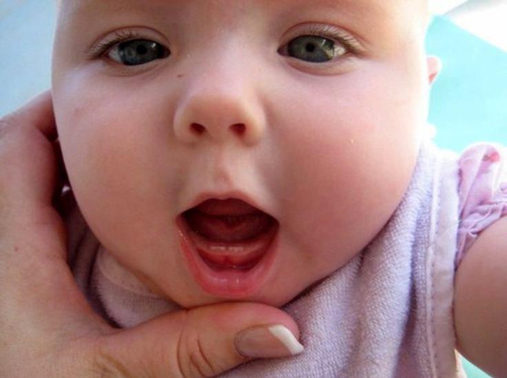 Minh họa trình tự và thời gian mọc răng của bé