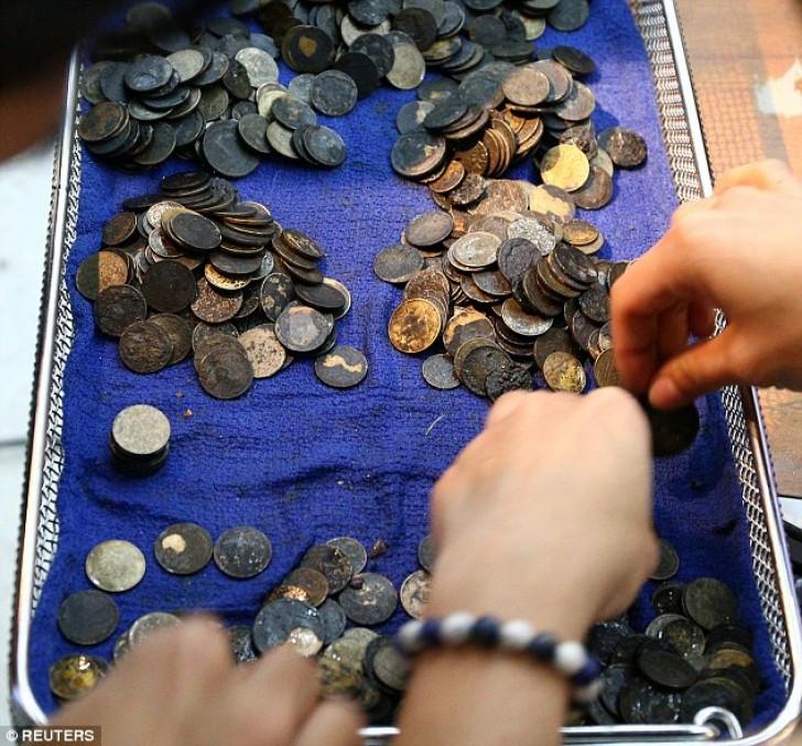 Mổ lấy gần nghìn đồng xu trong bụng rùa biển Thái Lan