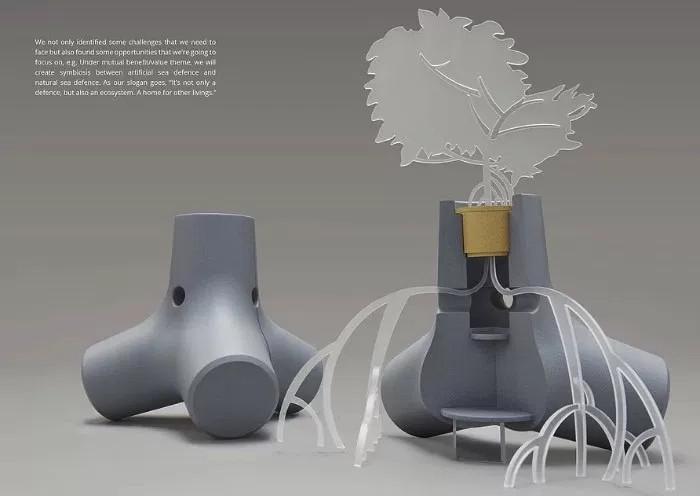 Một nhà thiết kế vừa tìm ra cách biến trụ chắn sóng thành rừng ngập mặn