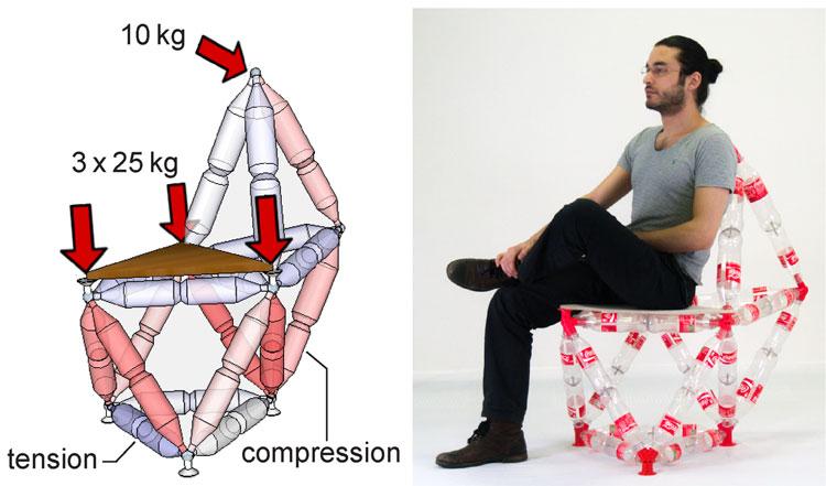Một vật in 3D nhỏ bé có thể giúp xây nhà bằng chai nhựa dễ dàng hơn bao giờ hết
