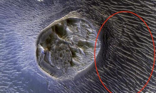 NASA công bố miệng núi lửa kỳ lạ nhất trên sao Hỏa
