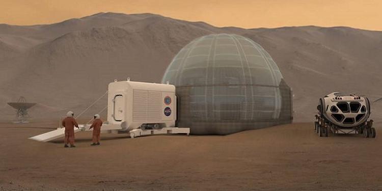 NASA tiết lộ ý tưởng xây nhà băng trên sao Hỏa