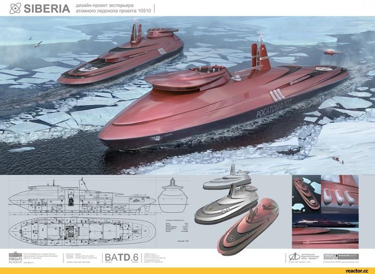 Nga triển khai tàu hạt nhân phá băng đến Bắc cực, nhìn như bước ra từ Star Wars
