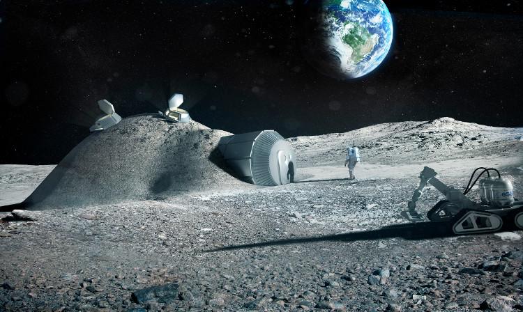 """""""Ngôi làng trên Mặt Trăng"""" đang dần hình thành?"""