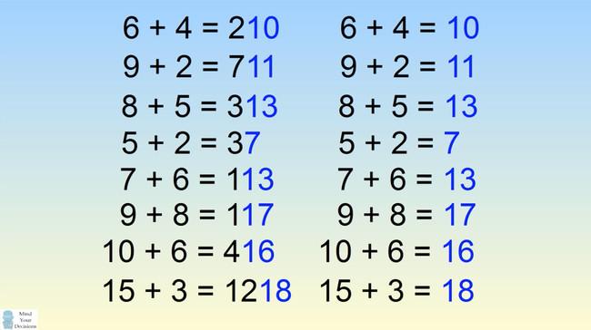 Người giải được câu đố này trong 01 phút là thiên tài! Còn bạn thì sao?
