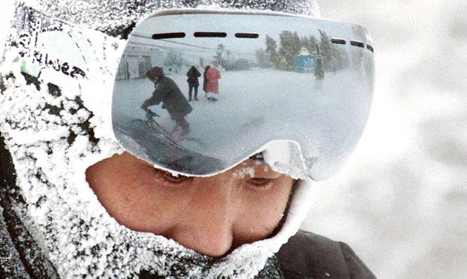 Người Nga đua xe đạp giữa trời lạnh -40 độ C