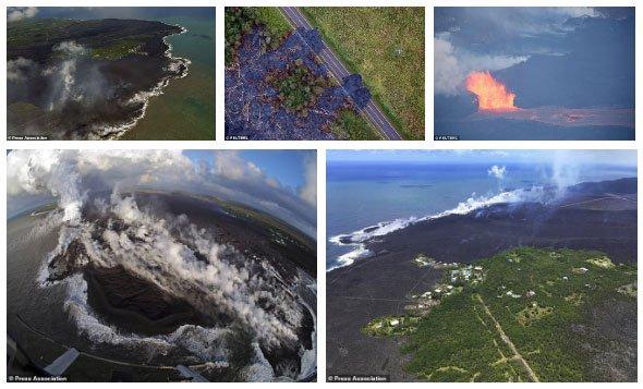 Núi lửa Kilauea đã giúp Hawaii mọc thêm hàng km đất mới