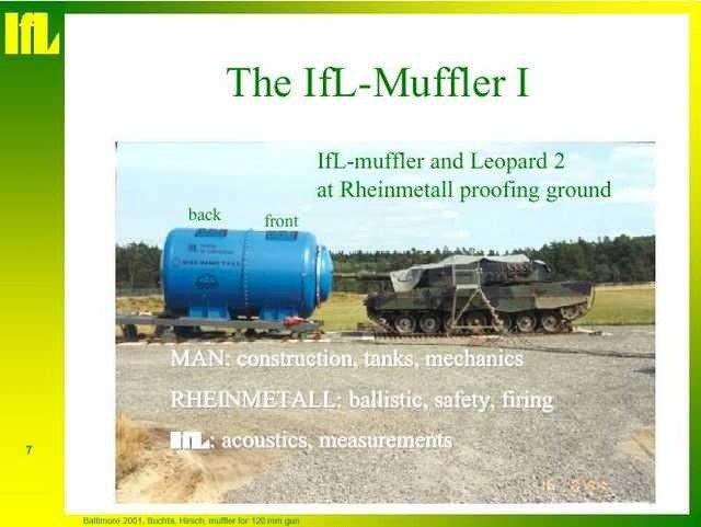 Ống giảm thanh lớn nhất thế giới lắp cho pháo tự hành và xe tăng