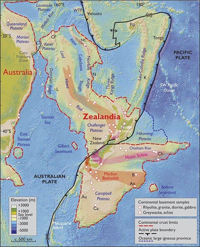 Phát hiện lục địa ngầm gần 5 triệu km2 ẩn dưới Thái Bình Dương