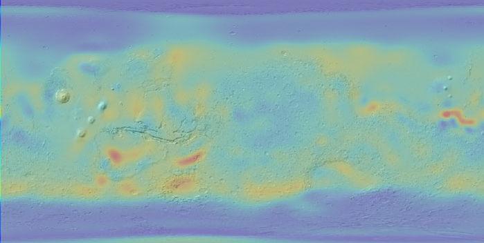Phát hiện nước ở vùng xích đạo sao Hỏa